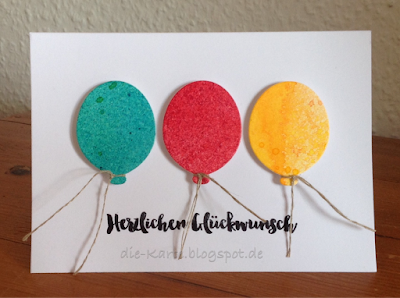"""Party Balloons"" Dies, My Favorite Things,  ""Glückwunsch"" Klartext Stempel"