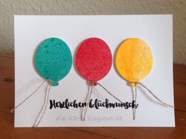 """Party Balloons"" Dies, My Favorite Things,  ""Glückwunsch"" Klartext Stempel"