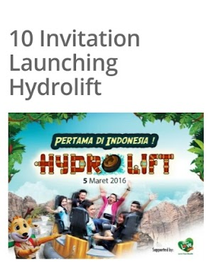 Yeay, Saya Terpilih Menjadi 10 Blogger Pemenang Undangan Launching Wahana Hydrolift Terbaru Di Jungle Land