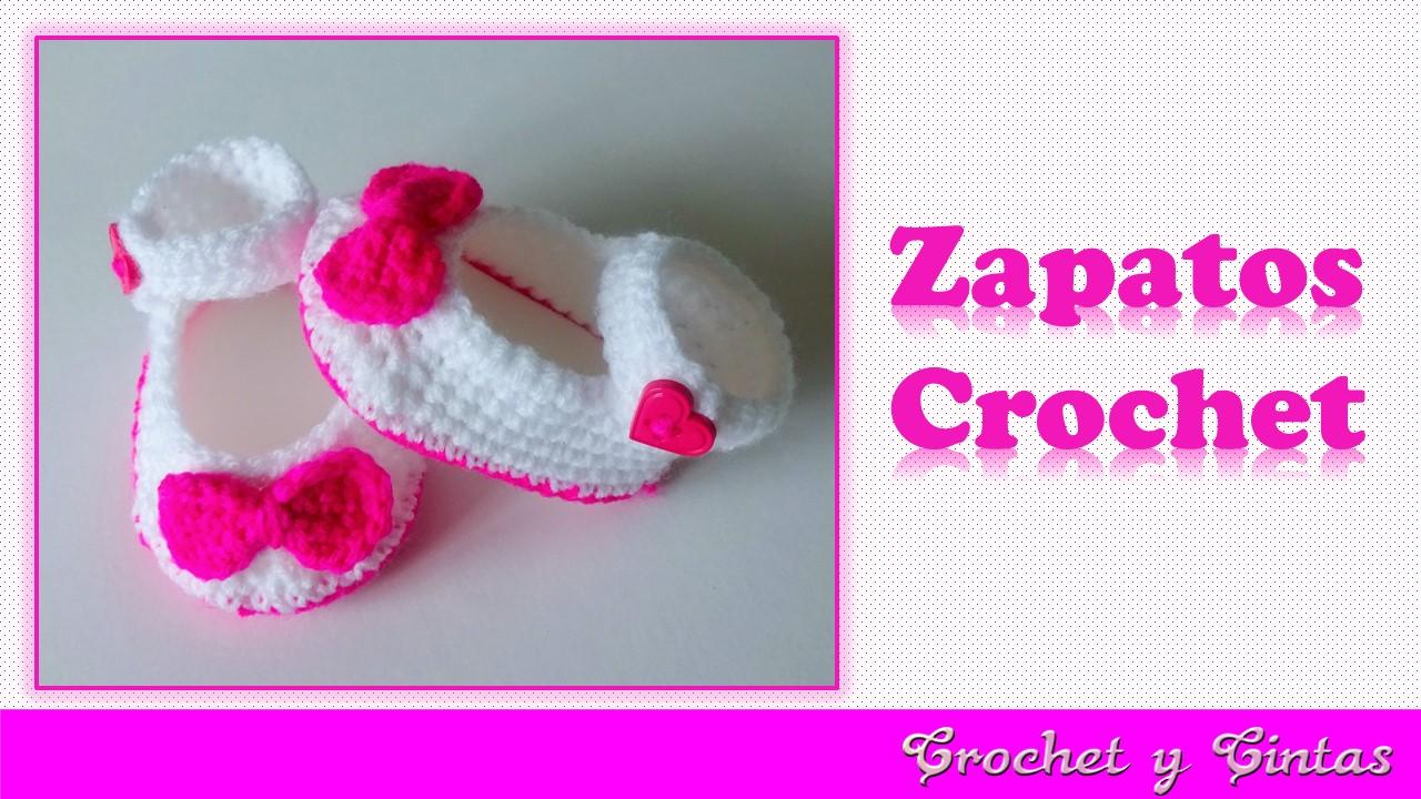 Como tejer escarpines zapaticos para bebés tejidos a crochet ...