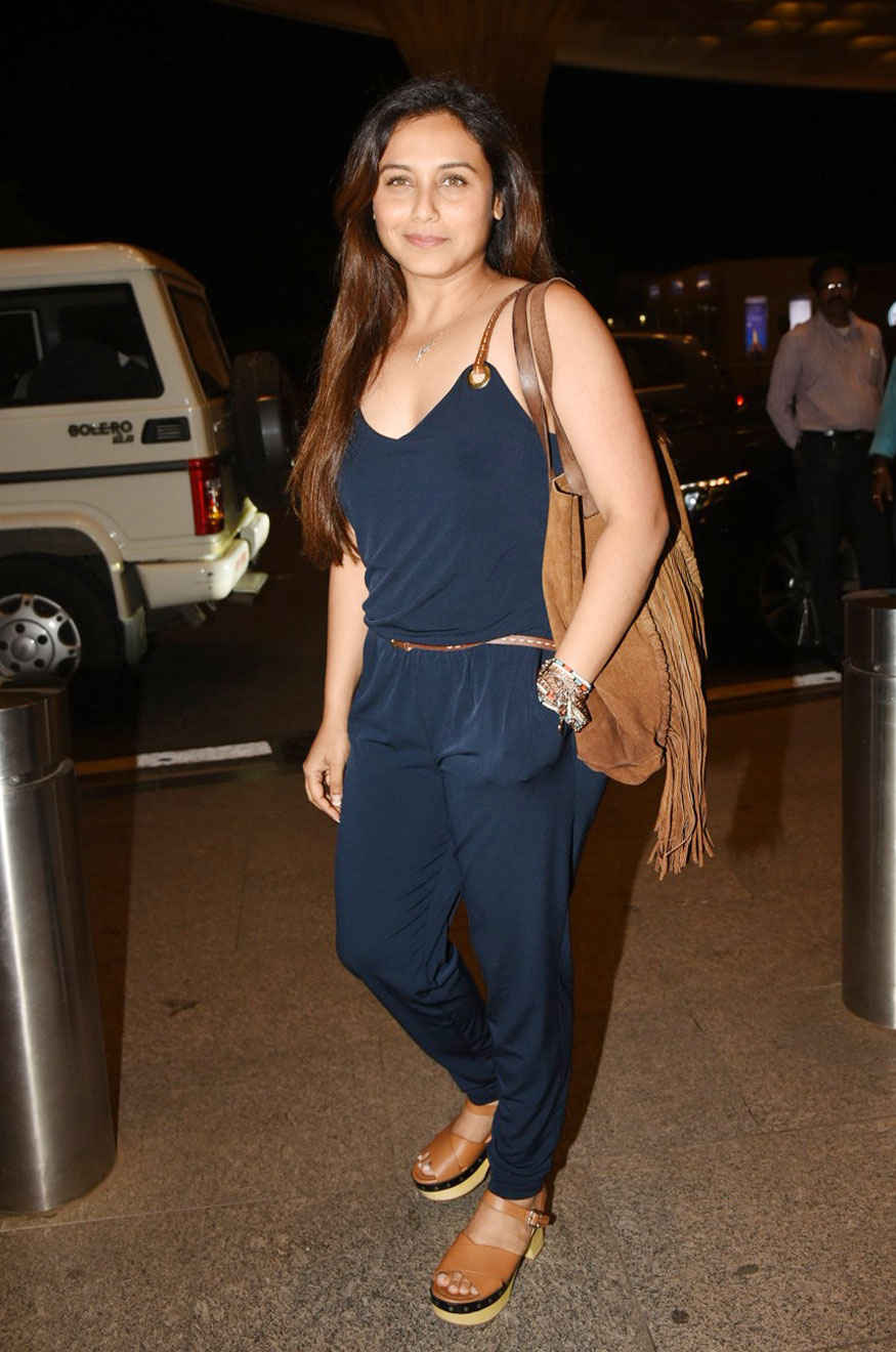 Rani Mukerji Snapped at Mumbai Airport
