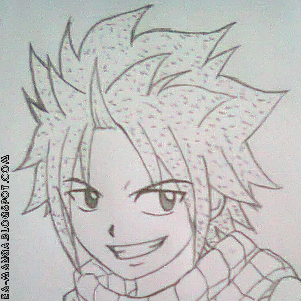 Cara Menggambar Fairy Tail Natsu Dragneel Manga Council