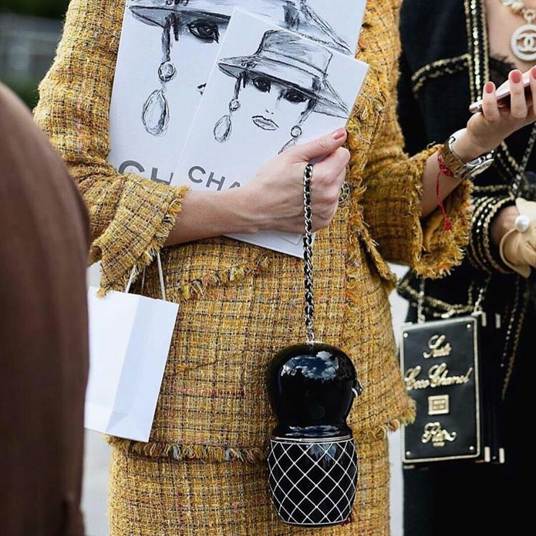 061b0fb2eca48f Individuality #Coco Chanel #tweed-boucle suit#mini bags #Coco Chanel  perfume bags #magazine #streetstyle de luxe #understatement#french  lifestyle #modern ...