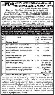MEGA Recruitment 2016 - 08 Manager, Development Officer Posts