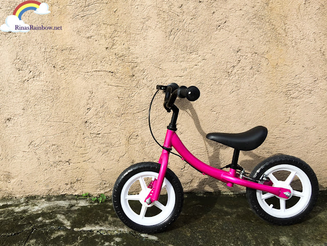toddler balance bike, pink bike
