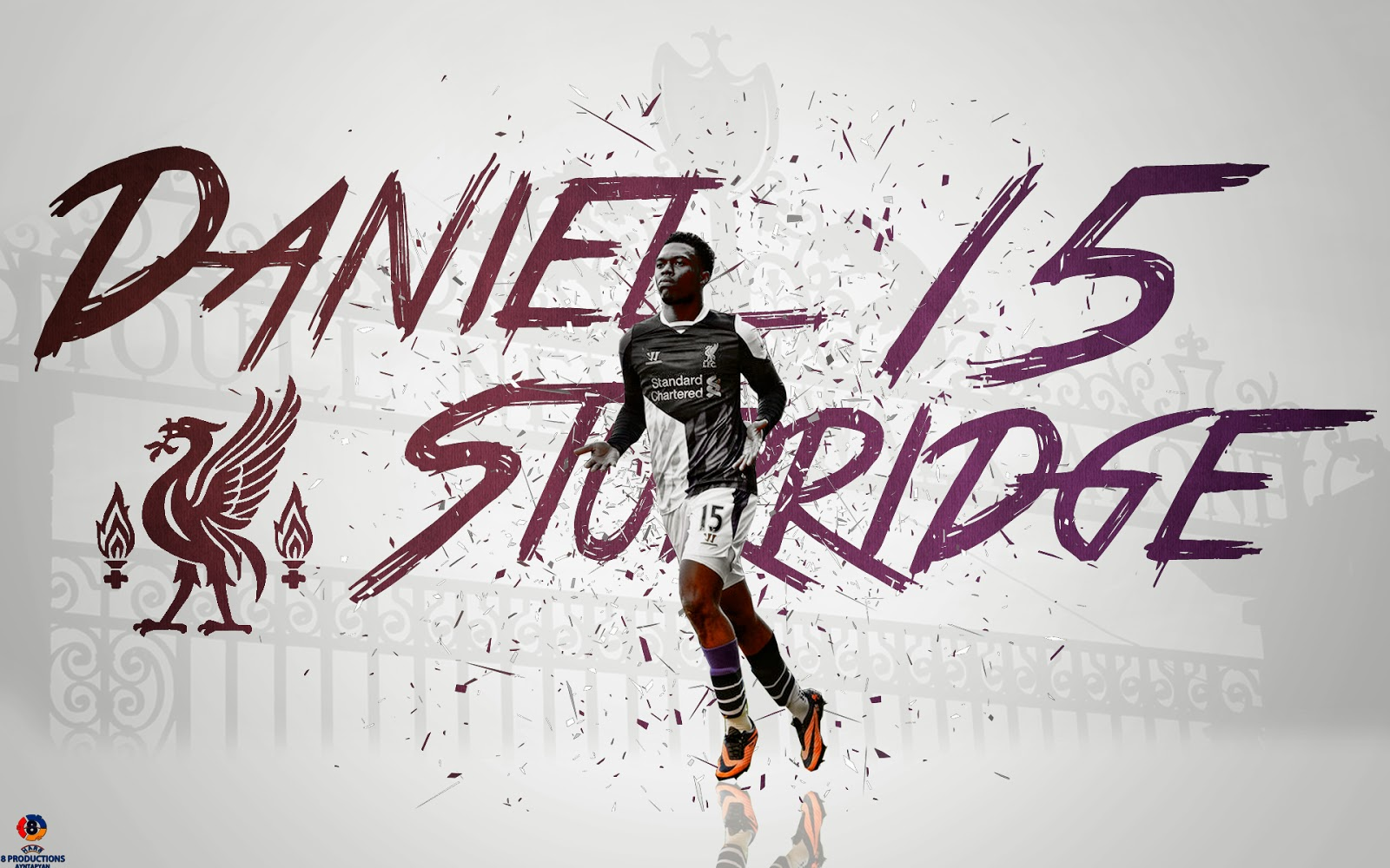 8 Productions: Daniel Sturridge Liverpool 2013/14 Wallpaper