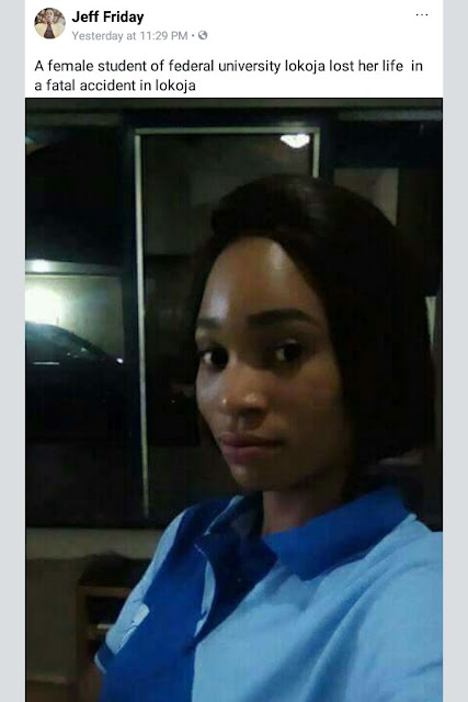 Photos: Dangote truck runs over tricycle in Lokoja, kills female university student, Civil Defence officer, one other