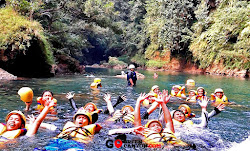 aktivitas seru body rafting di green canyon