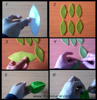 Tutorial buah apel dari bahan kain flanel 1