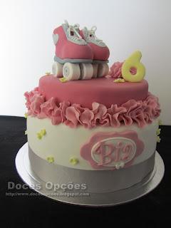 bolo aniversário menina patin bragança portugal