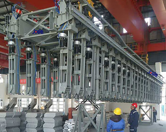 Busbar lifting frame is used to lift the anode busbar periodically