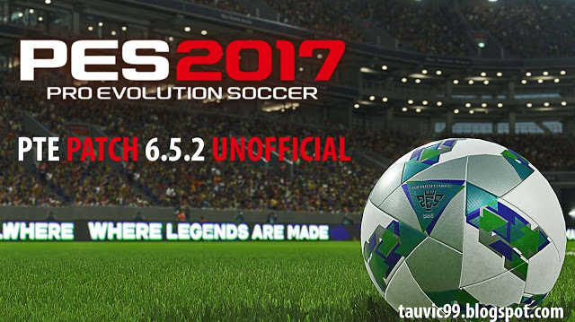 Update Patch PES 2017 dari PTE V6.5.2 Unofficial