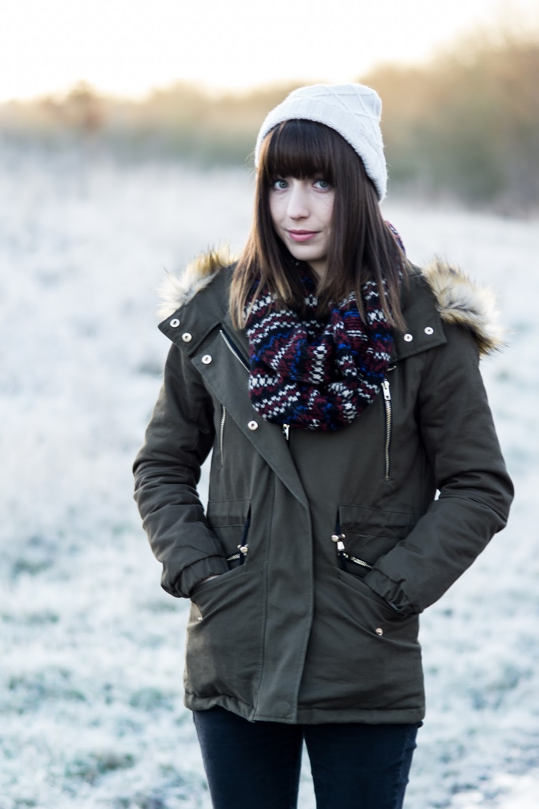 Hello Freckles Frosty Morning Fashion Union Parka OOTD Portrait