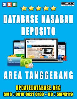 Jual Database Nasabah Deposito Tanggerang