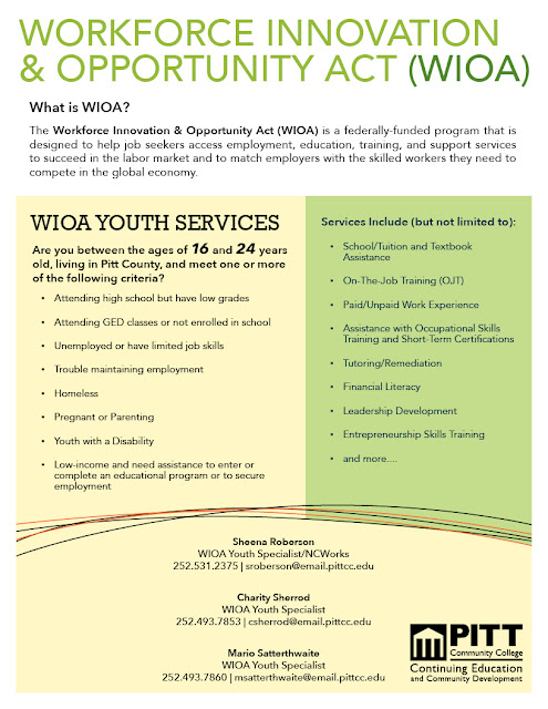PCC Career Readiness Certificate: WIOA Youth Services