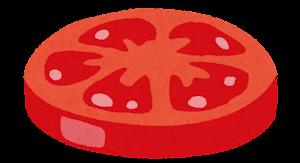 ハンバーガーの具材のイラスト(トマト)