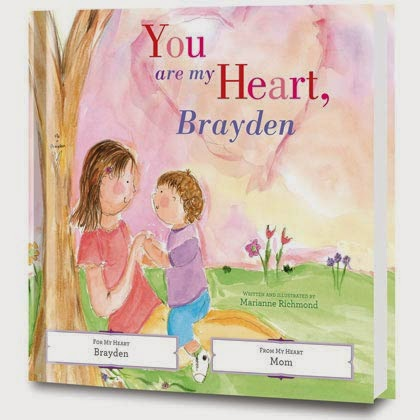 you are my heart personalized book cover