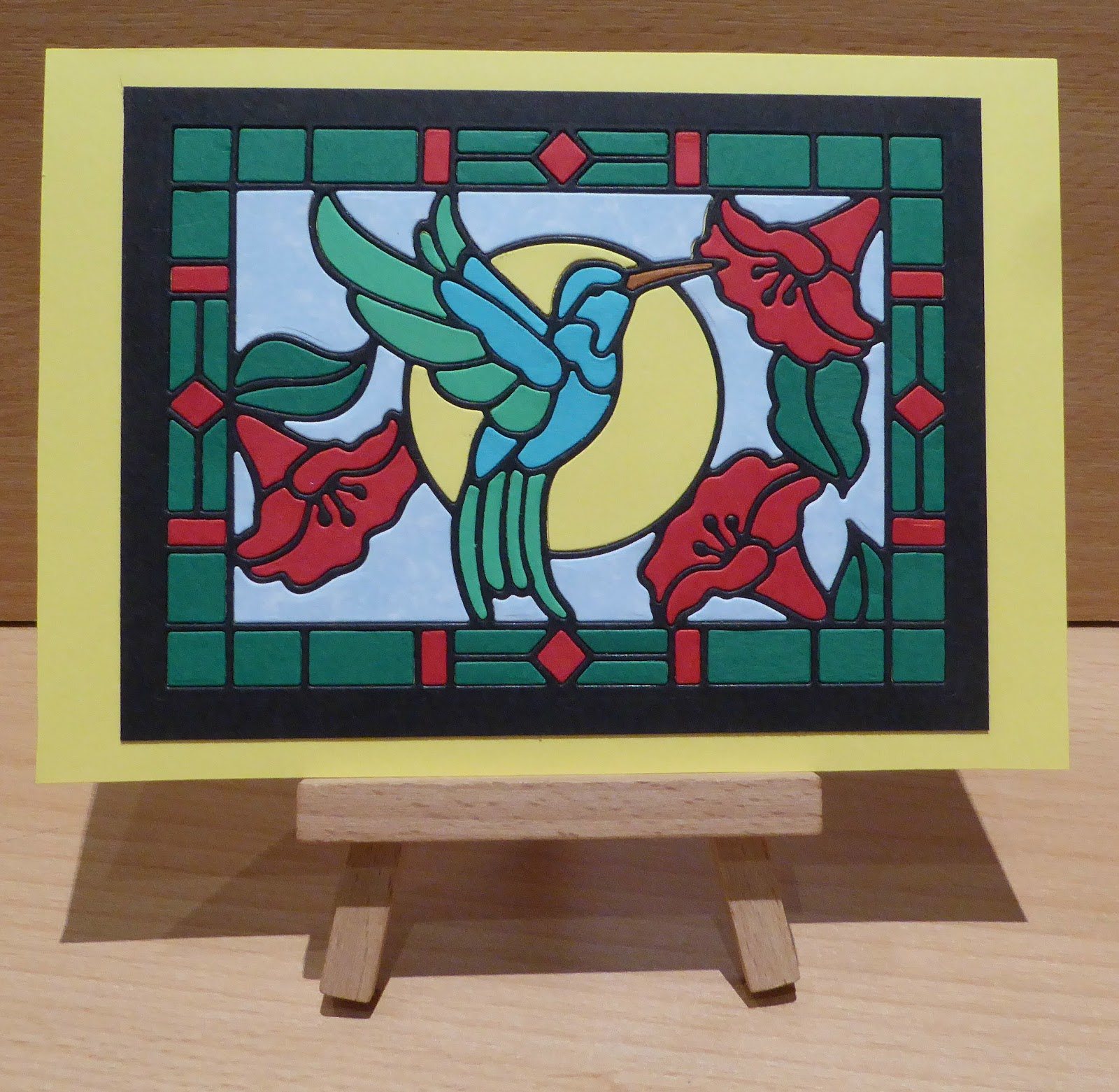 Crafty Sunflower: Stained Glass Hummingbird