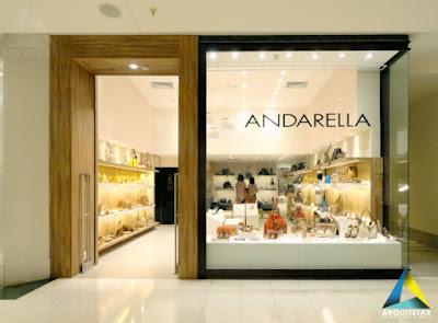 projeto arquitetura fachada loja calçados femininos shopping