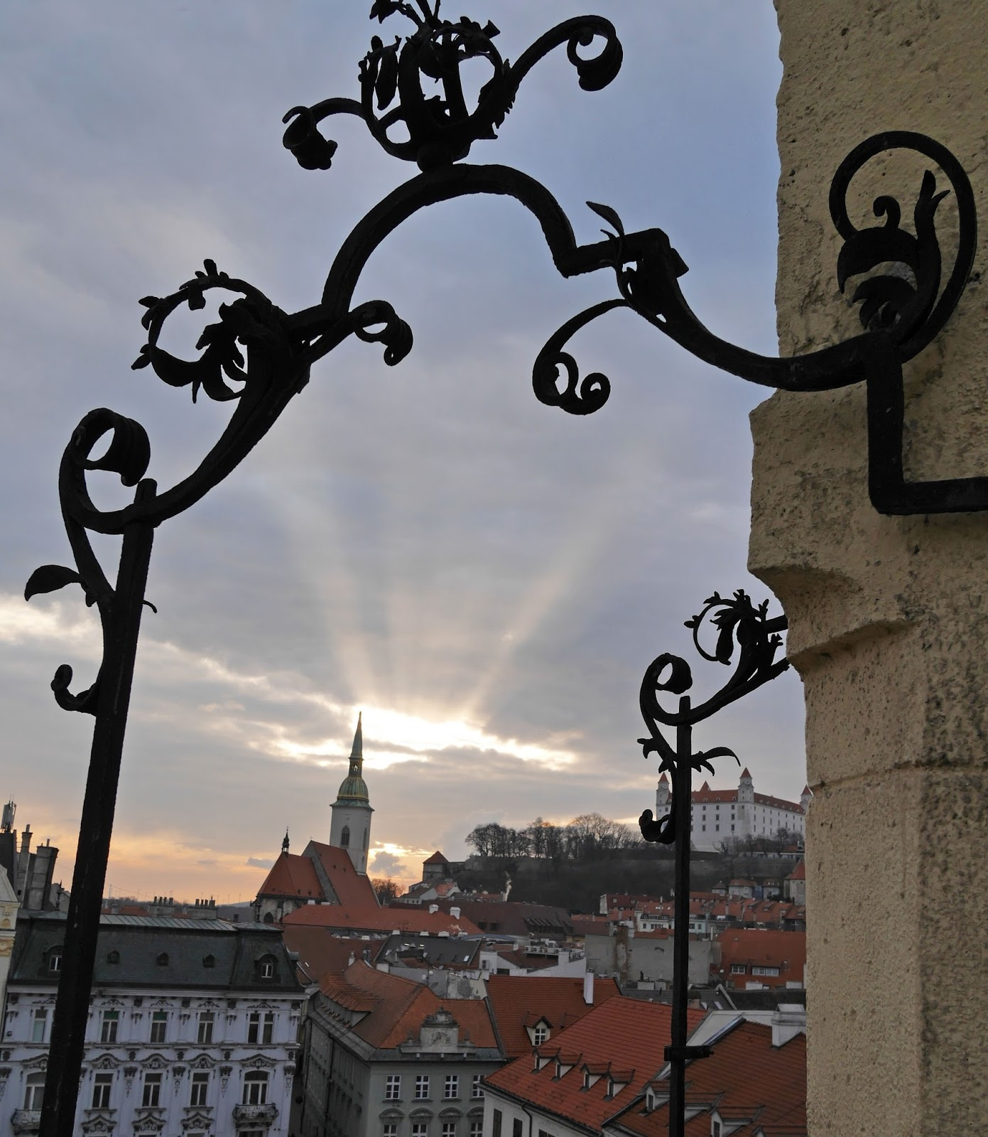 Old Town Hall tower at sunset, Bratislava