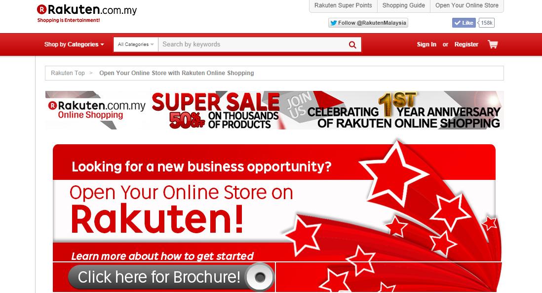 Malaysia online marketplace - Rakuten