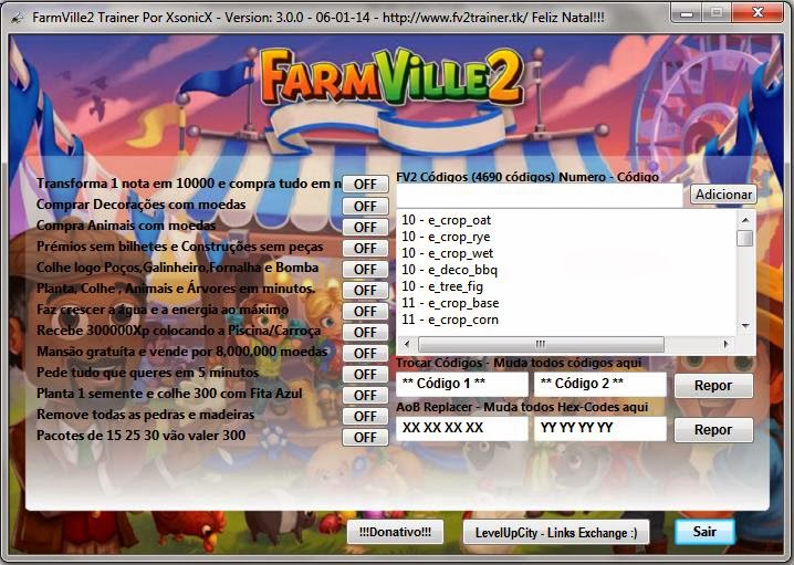 Farmville 2 New Trainer v3 1 9 26/02/2014 ~ FARMVILLE 2