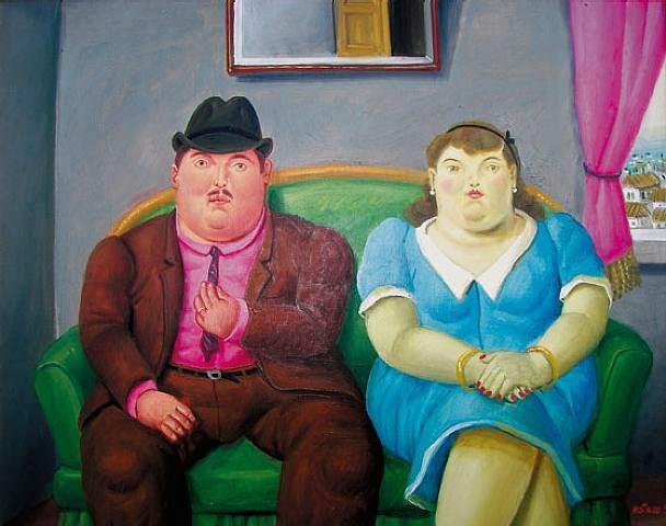 Homem e Mulher - Fernando Botero e suas pinturas ~ O pintor das figuras volumosas