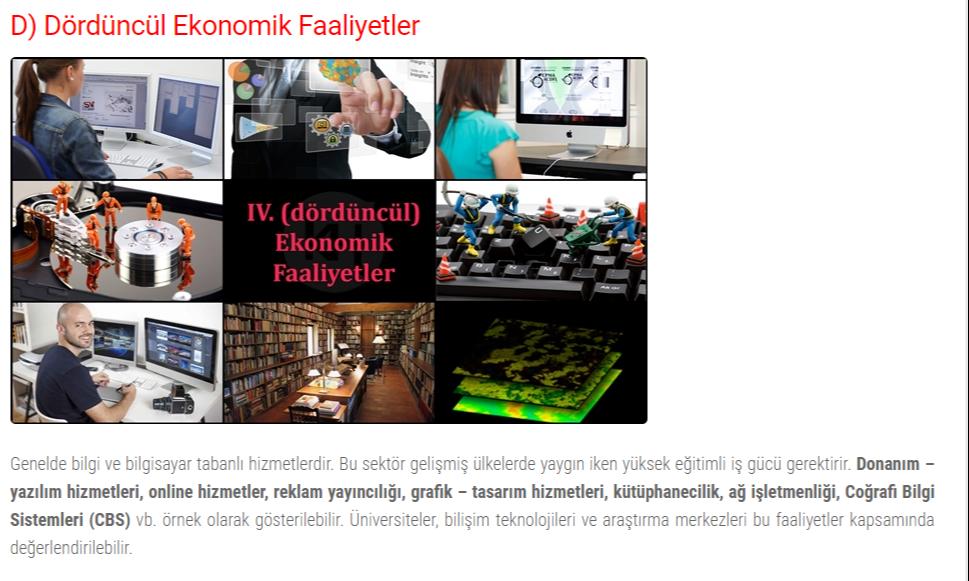 dorduncul-ekonomik-faaliyetler