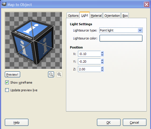 Creating A Cubed Icon Or Logo With Gimp: Using wireframe mode