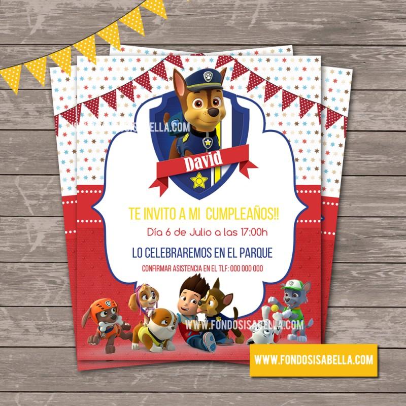 Manualidades invitaciones paw patrol - Manualidades patrulla canina ...