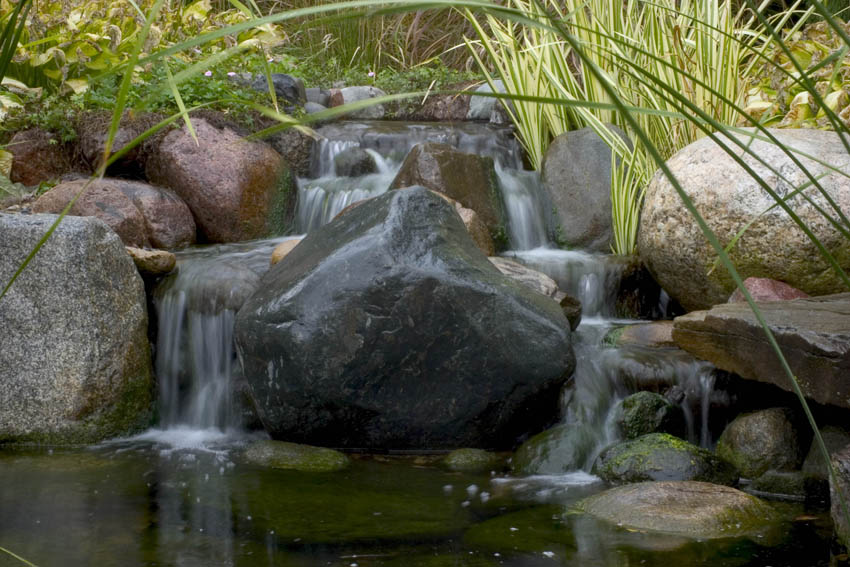 Gentle stream in a shady backyard. Perfect for attracting ... |Gentle Waterfall Pond