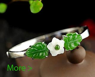 jade silver bangle attractive design