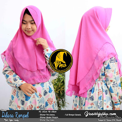 Khimar Sifon Ceruty Dua Layer Model Pinguin