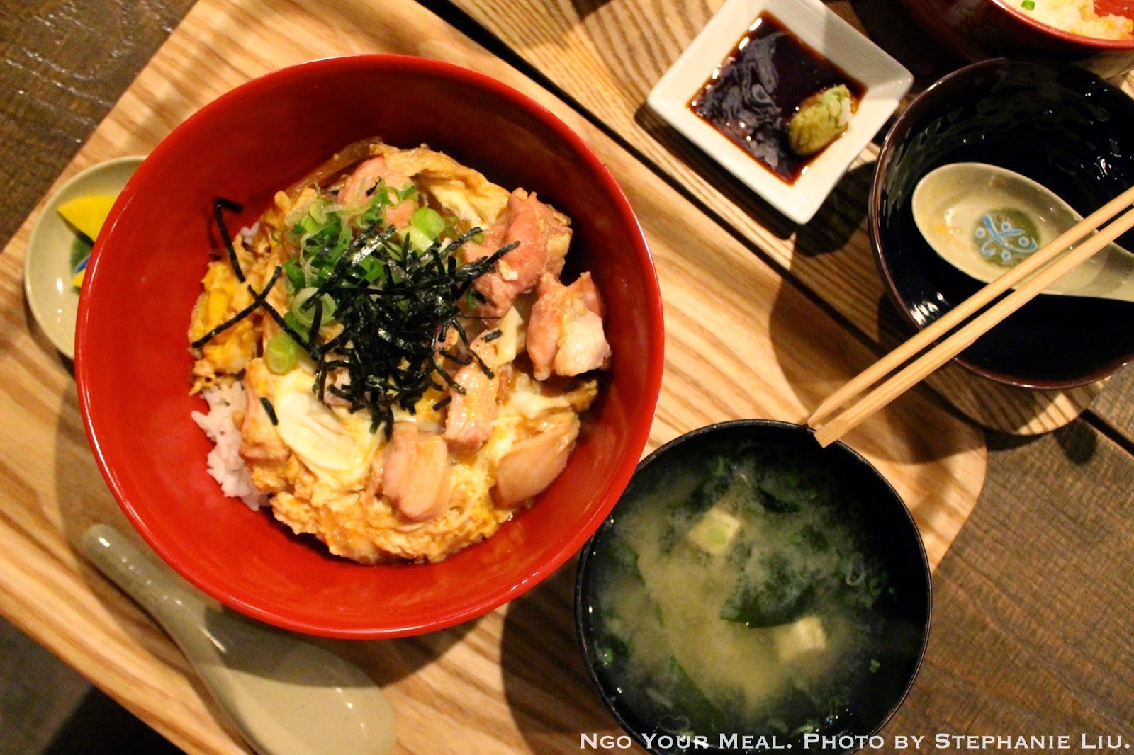 Oyako Don: Simmered Chicken and Egg over rice at Izakaya Mew.