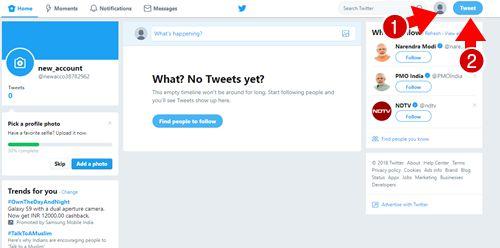Twitter पर Account कैंसे बनायें