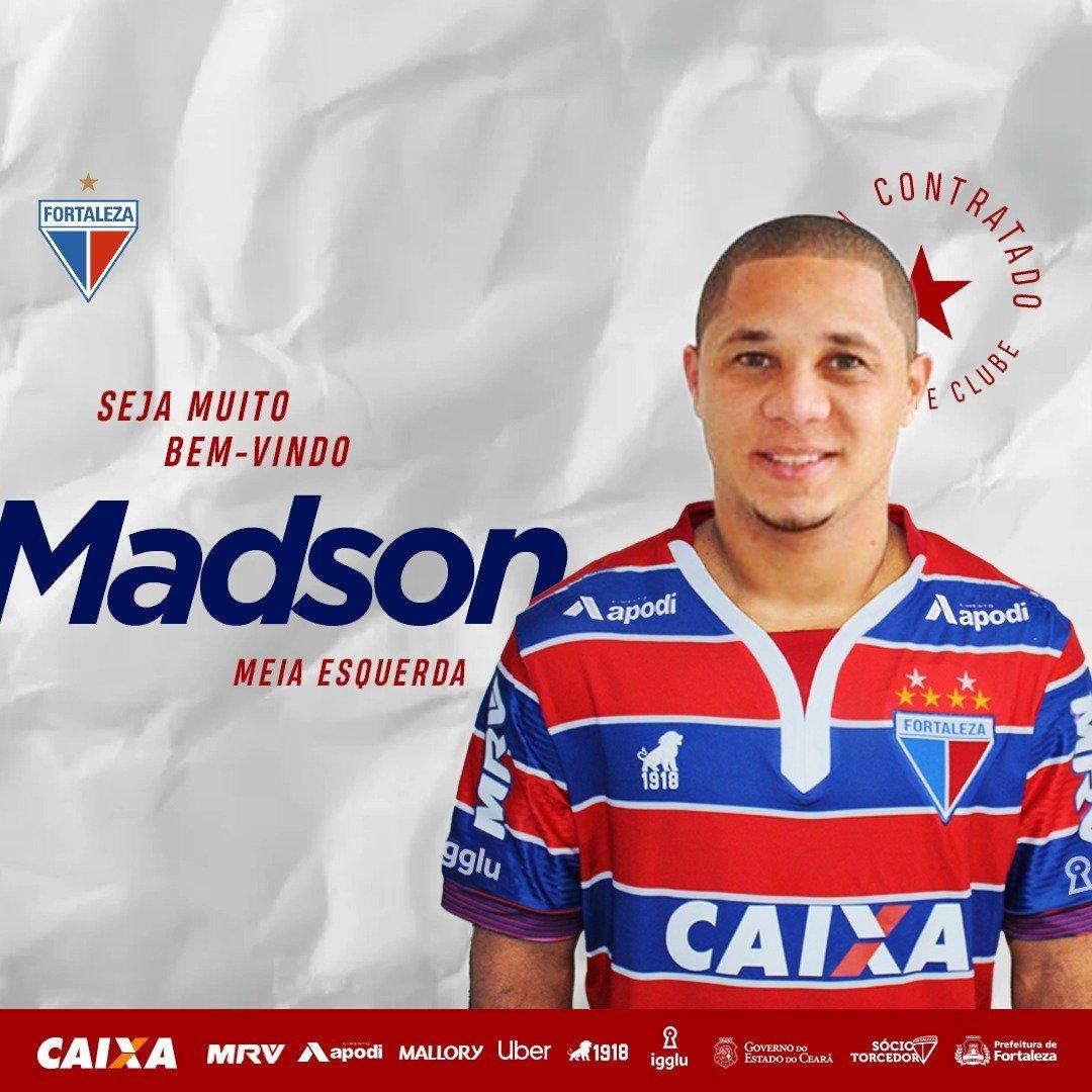 bdc3298bedd5f O Fortaleza anunciou mais um reforço para a temporada de 2019. Trata-se do meia  atacante Madson