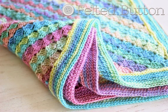 Spring into Summer Blanket (FREE crochet pattern by Susan Carlson of Felted Button)