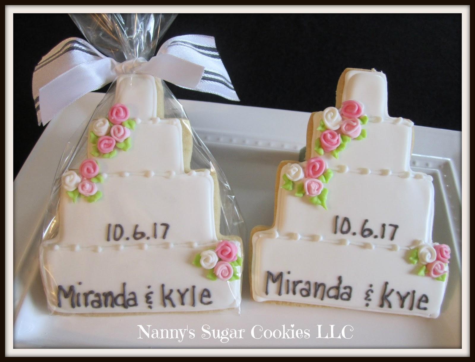 Nannys Sugar Cookies Llc Wedding Cookie Favors