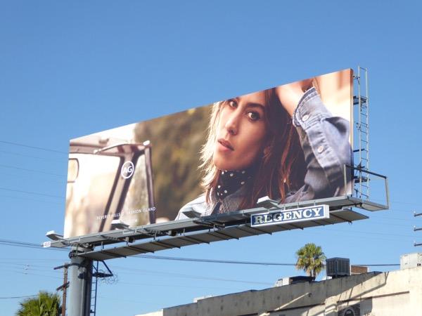Alexa Chung AG Jeans Spring 2017 billboard