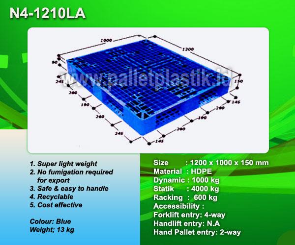 Jual Pallet plastik Pallet Plastik N4-1210LA