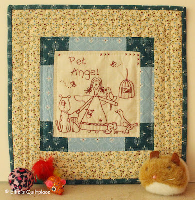 Ellies Quiltplace EQP Pet Angel Stitchery Patchwork