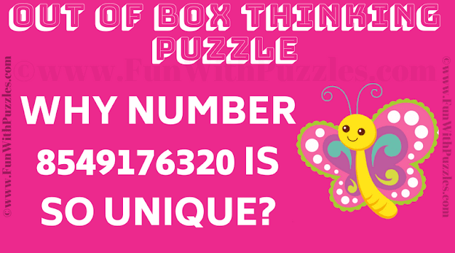 Why number 8549176320 is so unique?