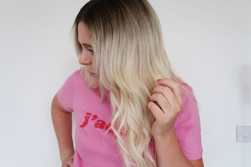 vivid hair extensions Northampton blonde pre bonded before and after