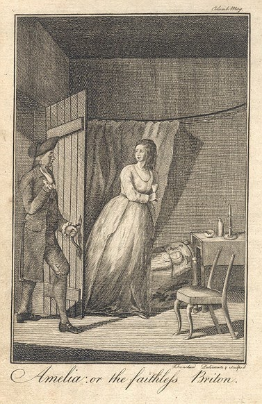 Amelia: Or the Faithless Briton frontispiece