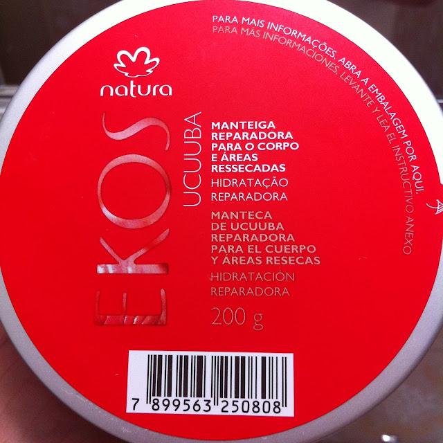 Manteiga Reparadora para o Corpo e Áreas Ressecadas Natura Ekos Ucuuba