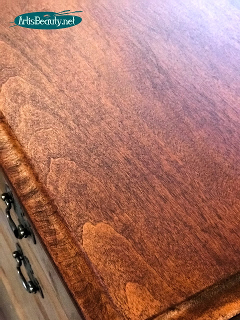 general finishes dark mahogany gel stain for westminster milk paint dresser makeover