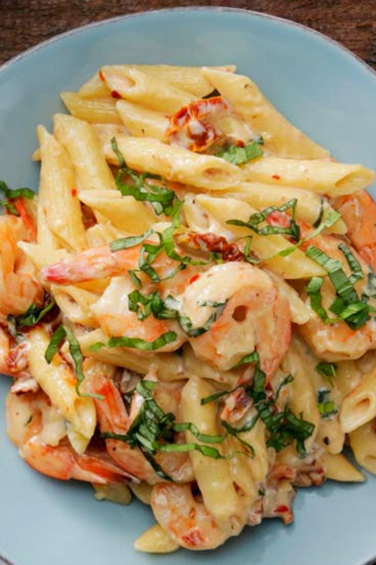 Shrimp Pasta Mozzarella