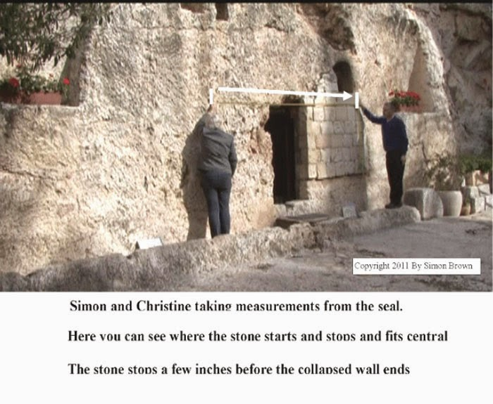 Here you can see where the stone starts and stops and fits central. The stone stops a few inches before the collapsed wall ends.