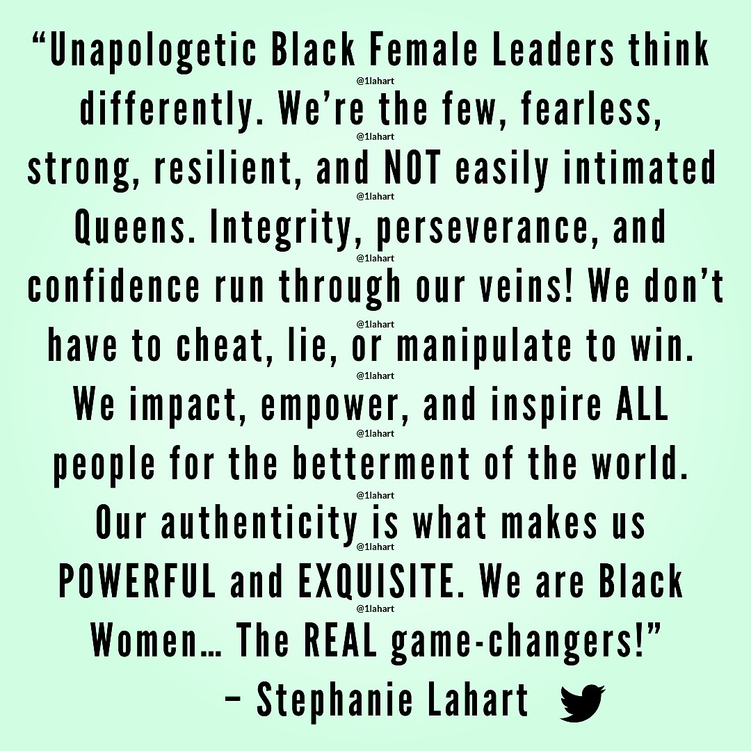 Stephanie Lahart: Black Female Leader and Leadership Quotes
