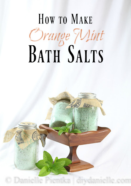 DIY Orange Mint Bath Salts